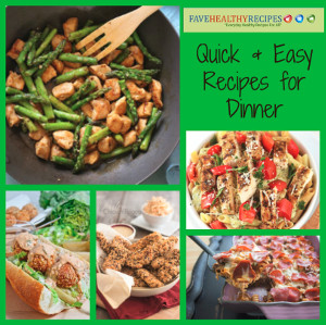 Healthy Easy Fast Dinner Recipes