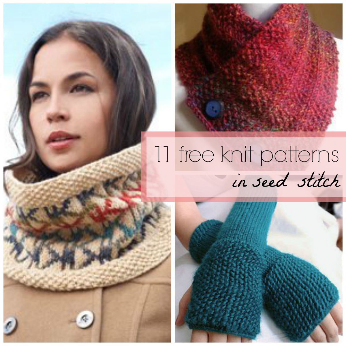 11 Free Knit Patterns in Seed Stitch