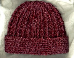 Free Crochet Pattern For Winter Hat : Ribbed Hat AllFreeCrochet.com