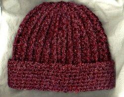 Free Crochet Pattern Winter Hat : Ribbed Hat AllFreeCrochet.com
