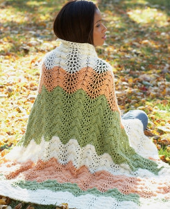 Neutral Melon Crochet Ripple Afghan