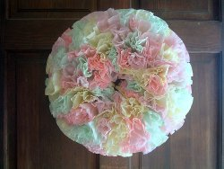 Dip and Dye Coffee Filter Wreath