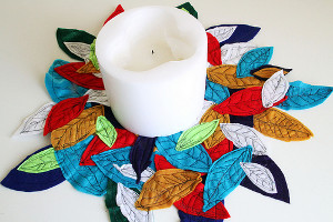 Fallen Felt Leaves Centerpiece