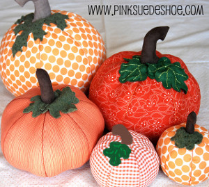 Cute and Cushy Fabric Pumpkins