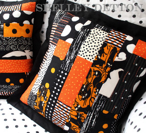 Scrap Strip Halloween Pillow