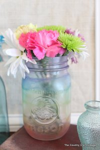 Quick and Easy Patriotic Mason Jar