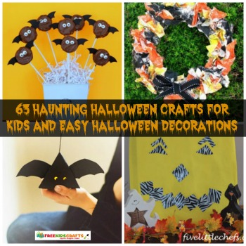 63 Haunting Halloween Crafts for Kids and Easy Halloween Decorations