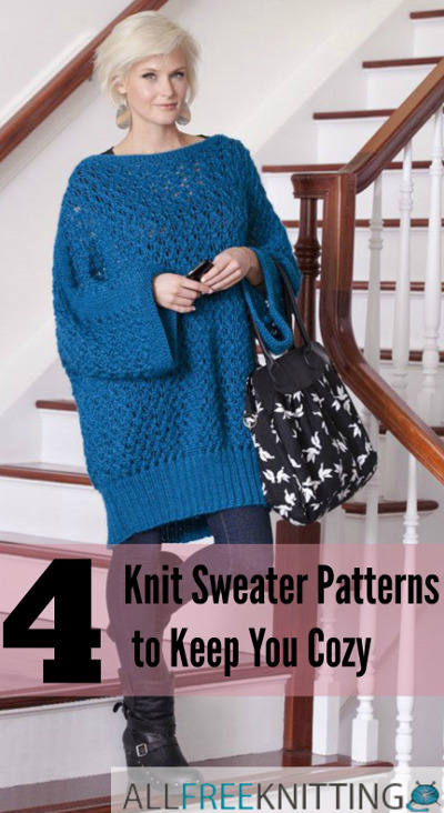 Knitting A Sweater For The First Time : Knit sweater patterns to keep you cozy allfreeknitting