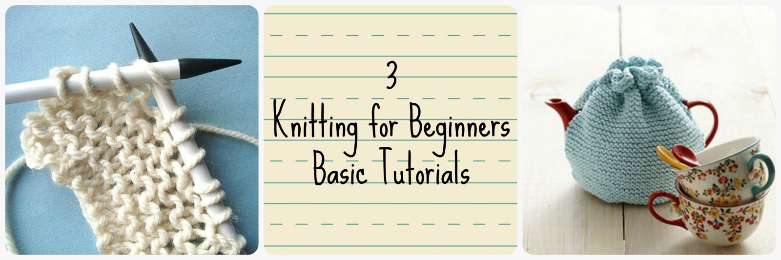 Different Knitting Stitches For Beginners : 3 Knitting for Beginners Basic Tutorials AllFreeKnitting.com