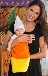 Cuddly Candy Corn Cocoon Cap