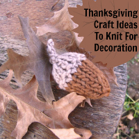 8 Thanksgiving Craft Ideas to Knit for Decoration