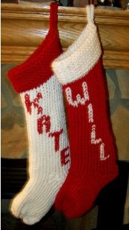 3 festive knit christmas stockings