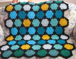 Stained Glass Motif Afghan