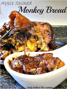Apple Spiked Monkey Bread