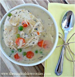 Easy All Day Slow Cooker Chicken and Dumplings