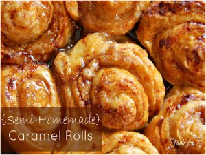 Semi-Homemade Slow Cooker Caramel Rolls