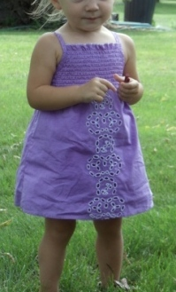 Amethyst Purple Dyed Dress