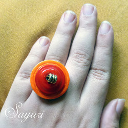 Blossoming Button Ring