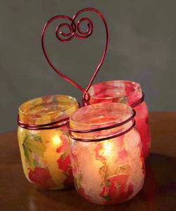 Candle Holder Heart Trio