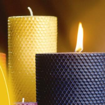 Rolled-Beeswax Candles