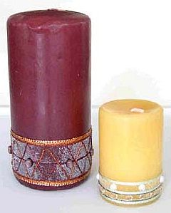 Bead and Fiber Candles