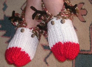 Cozy Rudolph Slippers