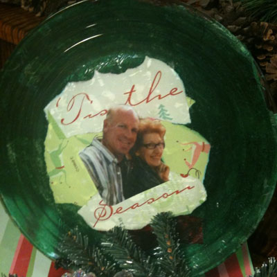 Decoupage Holiday Plate