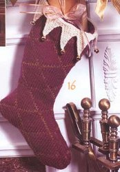 Holiday Harlequin Stocking