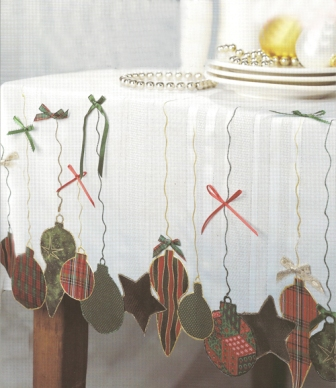 Christmas Ornaments Tablecloth