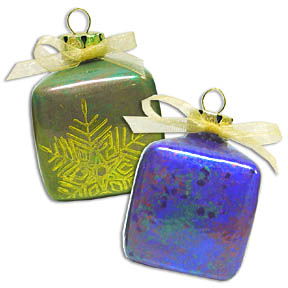 Mica Glass Ornaments