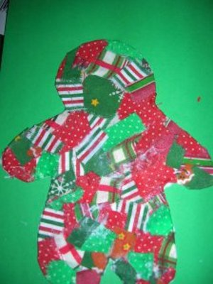 Quilted Gingerbread Man