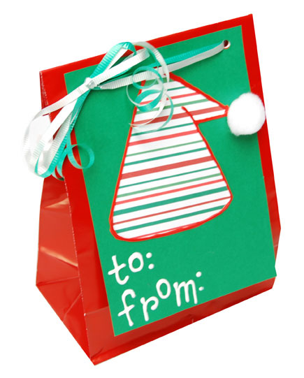 Elf Hat Christmas Gift Bag