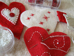Heart Felt Ornaments Step 2