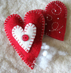 Heart Felt Ornaments Step 3