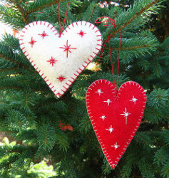 Heart Felt Ornaments Step 4