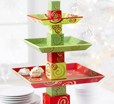 holiday tiered tray