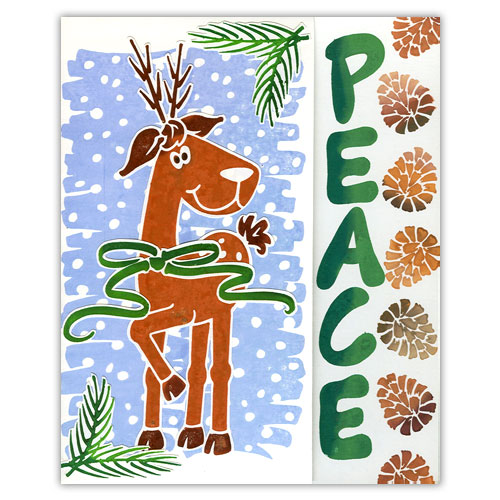 Easy Christmas Stamp Card