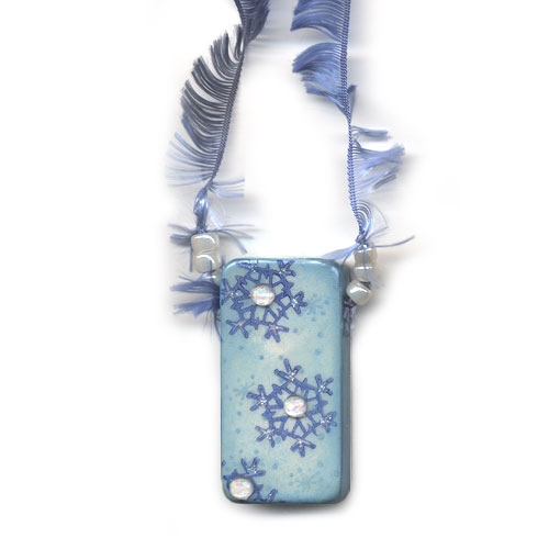Snowflake Domino Pendant or Ornament