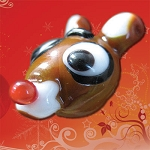 Rudolph Glass Christmas Bead