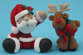 Santa and Reindeer Ornaments