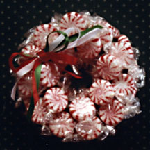 Handmade Candy Christmas Wreath