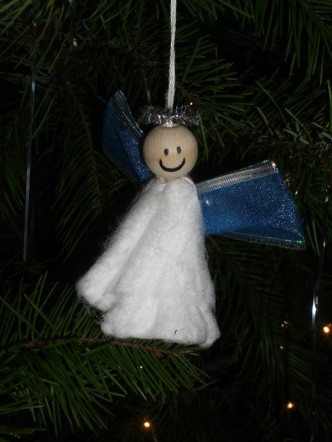 Unique Tampon Angel Christmas Ornament