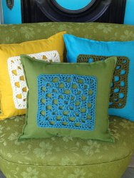 Chunky Granny Square Pillow