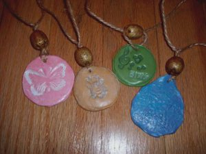 Butterfly Clay Necklace