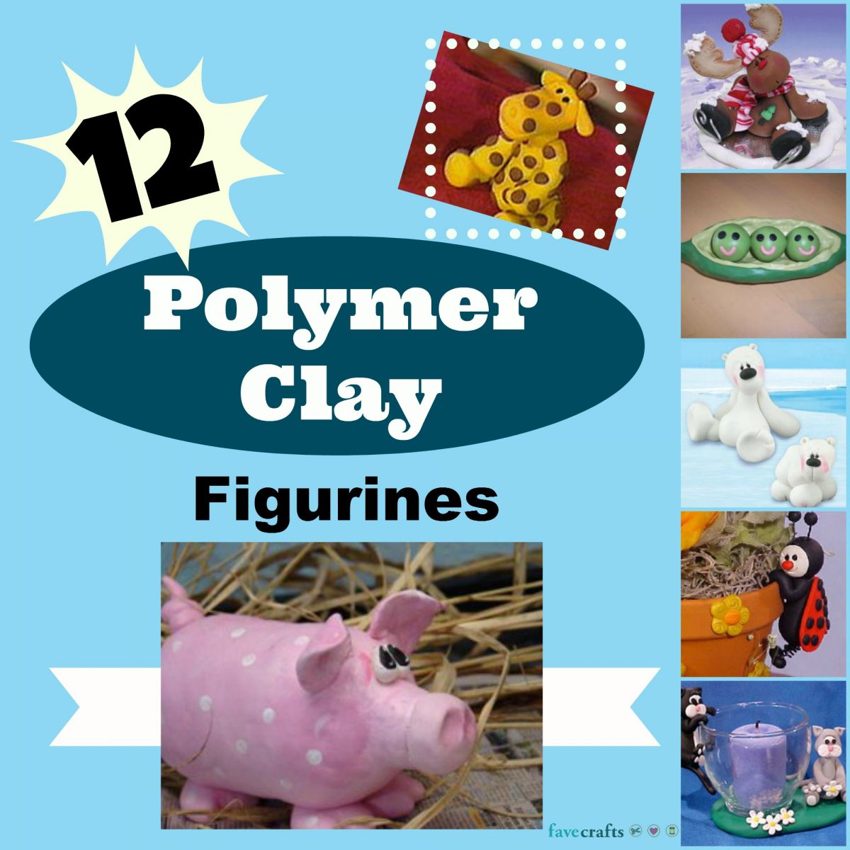 12 Polymer Clay Figurines