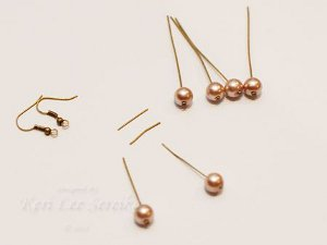 Connect-the-Dots Bronze Pearl Earrings