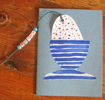 Bookmark Easter Egg Card