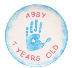 Father's Day Handprint Plate