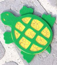 Beady Foam Turtle Project