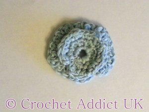 Blue Hydrangea Crocheted Flower